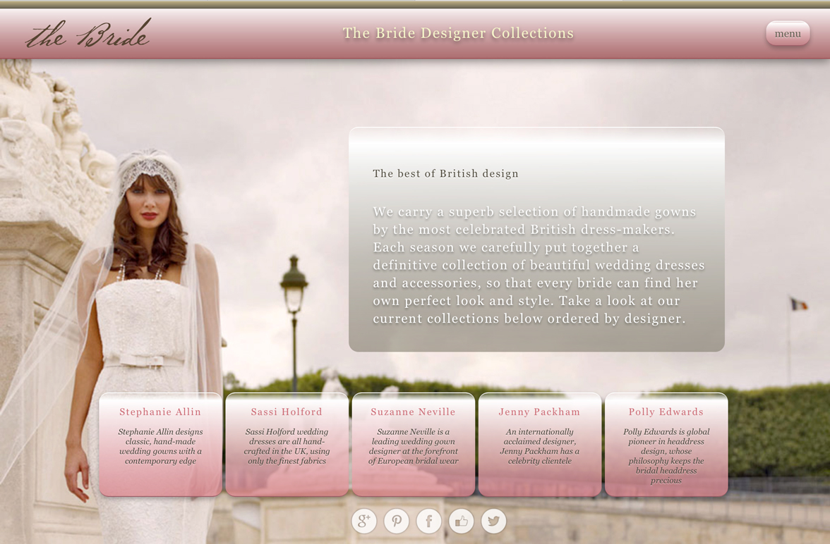 Website for iPad designed by Nick Herbert Associates St Albans
